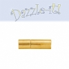 Plug-in Clasp - Tube Smooth 17mm Gold   (2pcs)